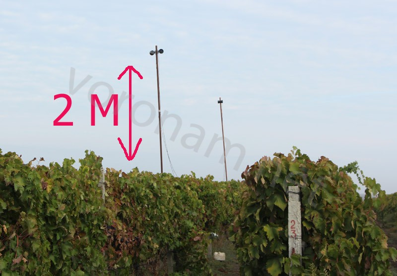 Размещать нужно на высоте 2 метра