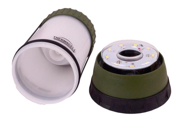 Лампа противомоскитная Scout Camp Lantern MR CLC в разобранном виде