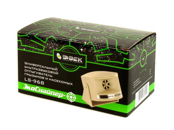 Универсальный ультразвуковой отпугиватель LS-968 в упаковке