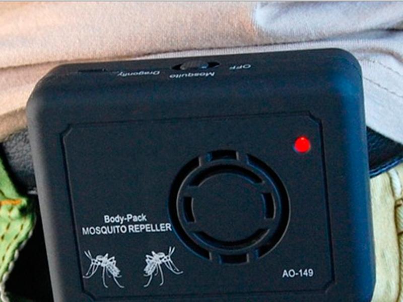 Процесс работы ультразвукового отпугивателя комаров Aokeman AO-149