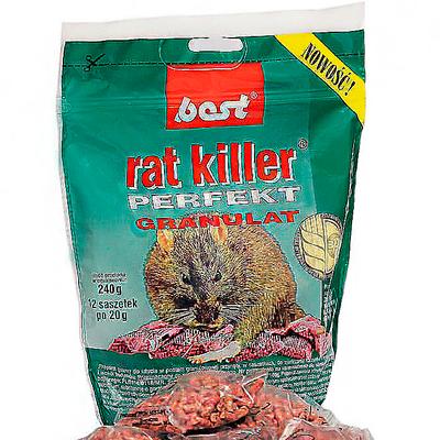 Отрава для грызунов Best с мумифицирующим эффектом (Порционные пакетики 12 шт, 240 гр)