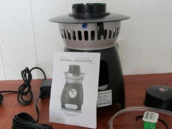 Комплектация устройства от комаров Mosquito Trap AMT 100 (до 15 соток)