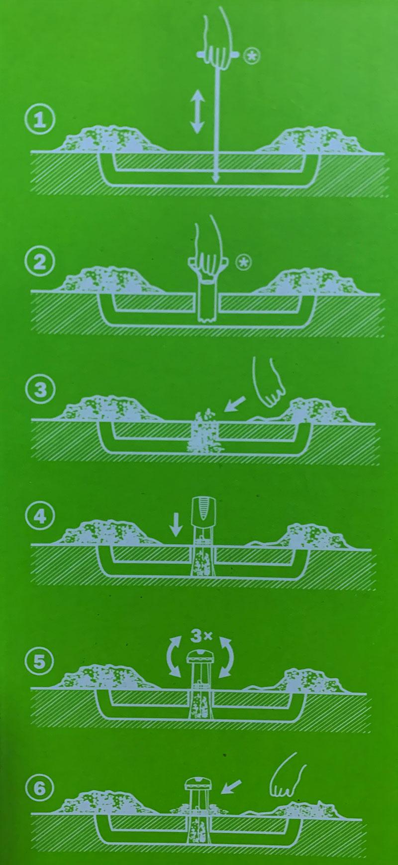 Как найти ход крота и установить кротоловку Mole Trap