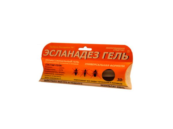 Инсектицид «Эсланадез Гель» против всех тараканов и муравьев (30 гр)