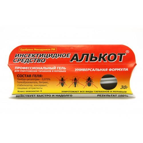 Инсектицидный средство от тараканов и муравьев «Алькот Гель» (30 г)