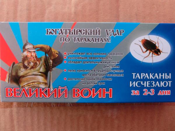 Инсектицидный средство от тараканов и муравьев «Великий Воин» (30 г)