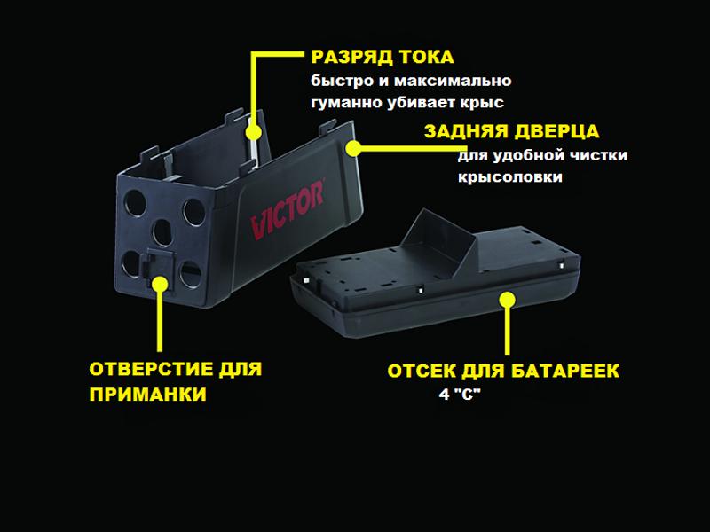 Устройство электронной крысоловки Victor Electronic Rat Trap M241