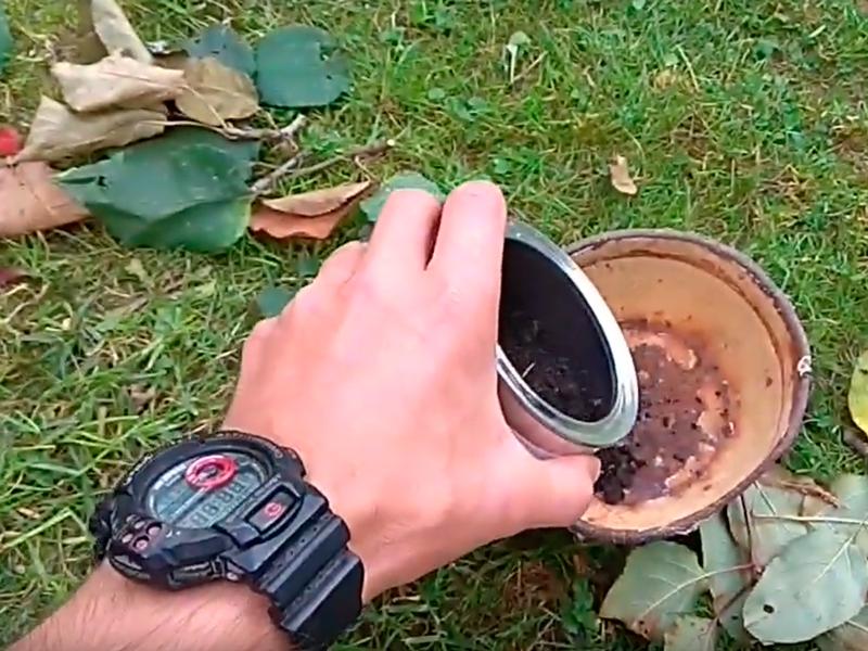 Процесс применения дымовой шашки «Вихрь»