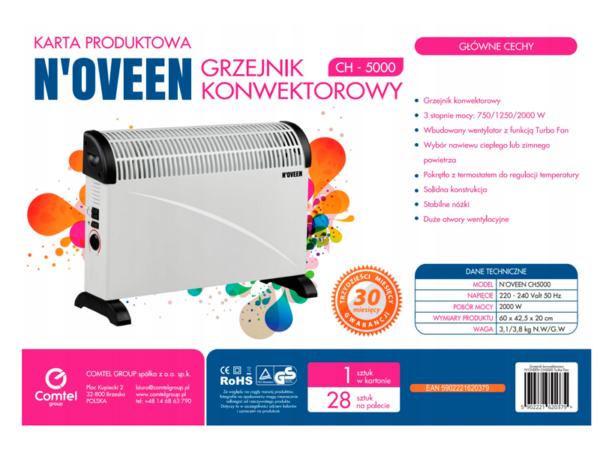 Конвекторный обогреватель Noveen CH-5000 2000 Вт