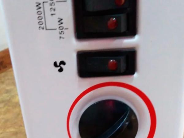 Панель управления конвекторного обогревателя Noveen CH6000 2000 Вт
