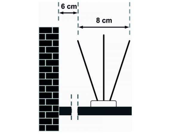 Правила установки противоприсадных шипов от птиц Jacopic (0,33 м)