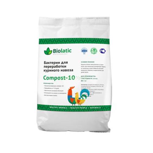 Бактерии для переработки птичьего помета Biolatic Compost-10