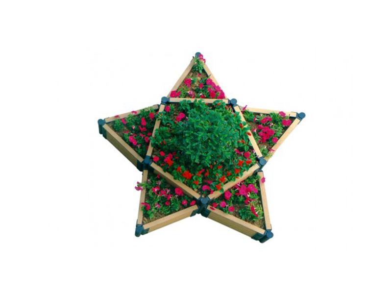 Вид сверху клумбы «Еврогрядка Звезда»