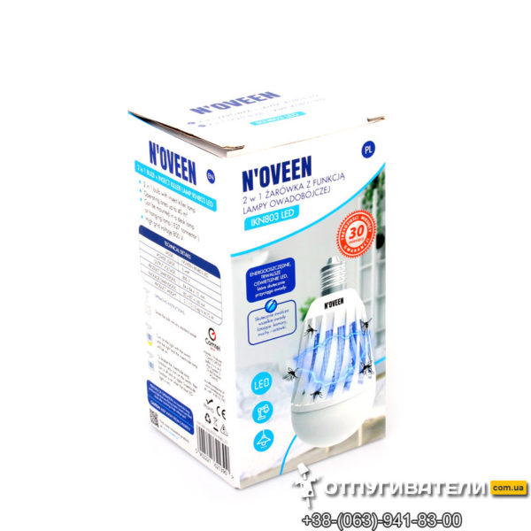 Антимоскитная светодиодная лампочка Noveen IKN803 LED в коробке