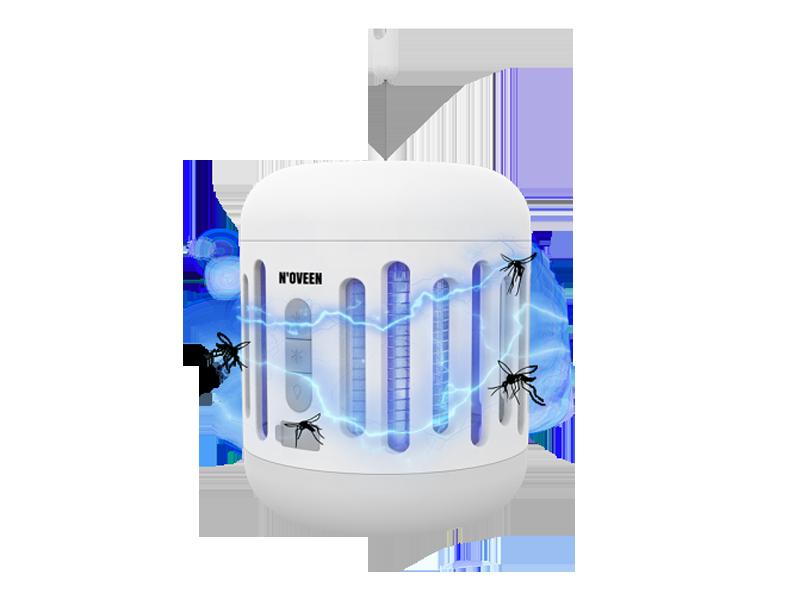Процесс работы лампы от насекомых IKN863 LED IPX4