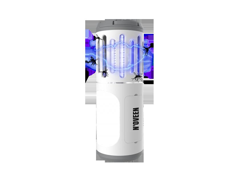 Процесс работы фонаря от насекомых Noveen IKN853