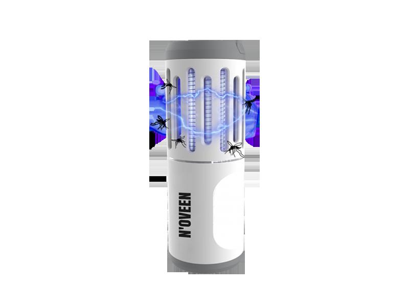 Процесс работы портативного фонаря от насекомых Noveen IKN854 LED IP44