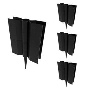 Комплект стыковочных элементов для грядок и клумб Еврогрядка для доски (150x25), 4 шт.