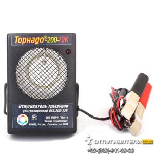 Ультразвуковой отпугиватель грызунов Торнадо 200-12К работает от аккумулятора