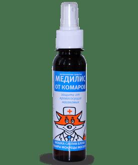 Медилис от комаров Средство защиты людей от комаров, репеллент, 100мл