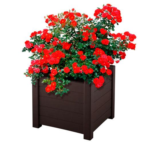 Кашпо для цветов из полипропилена «Еврогрядка», (92 л) - (47х53х53 см)