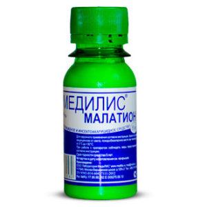 """Инсектицидное средство """"Медилис Малатион"""" (педикулицид) от вшей и других паразитов (50 мл)"""
